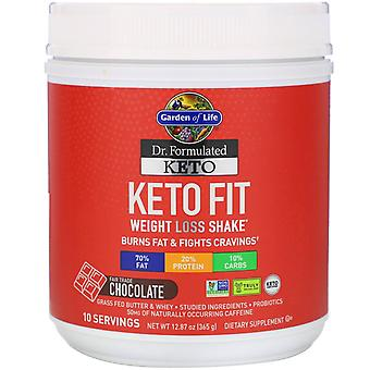 Garden of Life, Dr. Formulated Keto Fit Weight Loss Shake, Fair Trade Chocolate,