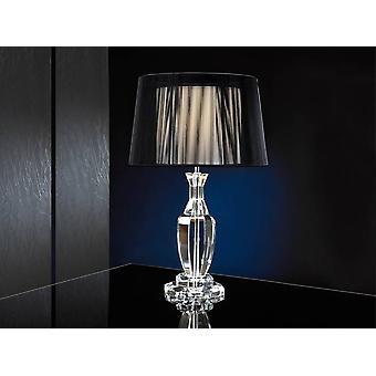 Lampe de table en cristal Chrome, E27