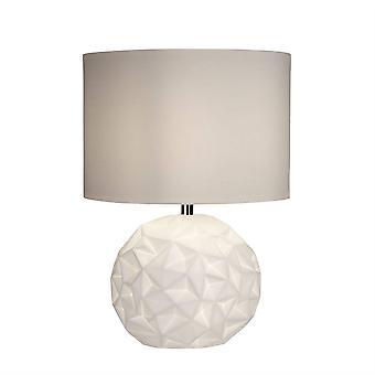 Searchlight Crinkle - 1 Light Table Lamp White, Chrome, E14