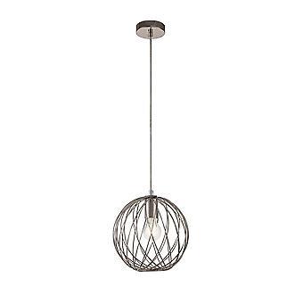 Luminosa Lighting - Pendentif de plafond en cage sphérique, 1 x E27, nickel poli