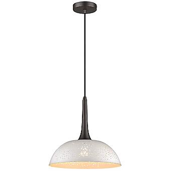 1 Lys Kuppel Loft Vedhæng Hvid, Sort, E27