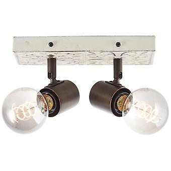 BRILLIANT Vagos Spotbalken 2flg schwarz/weiß Innenleuchten,Strahler,-Balken   2x A60, E27, 28W, geeignet für Normallampen