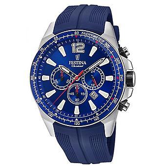 Festina Uhren originale F20376-1 - Uhr Chronograph Datum schwarzen Mann