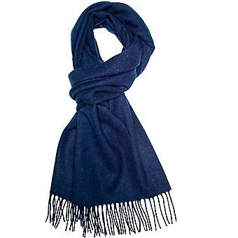Krawatten Planet Plain Navy blau Männer's lange Wolle Schal