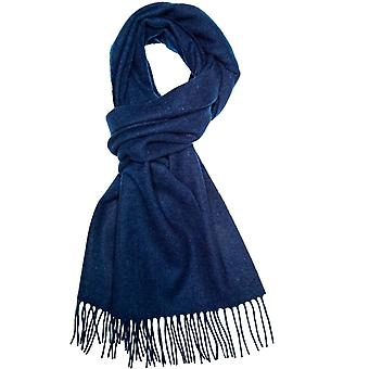 Ties Planet Plain Navy Blue Men-apos;s Long Wool Scarf