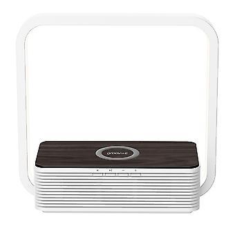 Aura Bluetooth-luidspreker met draadloos oplaadpad en aanraaklichtwit (GVWC03WE)