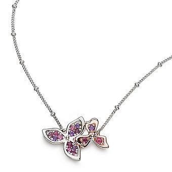 Kit Heath Blossom Petal Bloom Rose Rhodolite Ruby 17-quot; Ball Chain Necklace 90272RAP