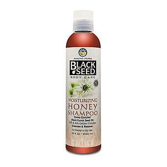 مدهش الأعشاب البذور السوداء ترطيب العسل شامبو، 8 أوقية