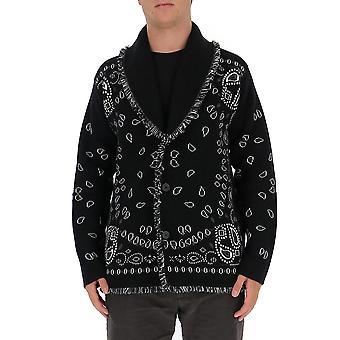 Alanui Lmhb015f20kni0041010 Men's Black Cashmere Cardigan
