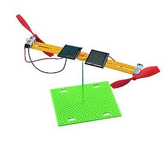 Turn Dubbel Solar Leksaker Motor Propeller Diy Montering Handgjorda Kit