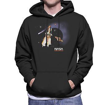 NASA Kennedy Space Centre Rocket Blast Men's Hooded Sweatshirt