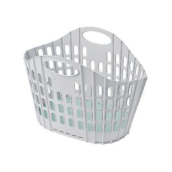 Addis Fold Flat Laundry Basket Green & Grey 518163