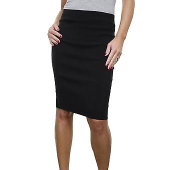 Women's Stretch Smart Casual Bodycon Pencil Skirt Ladies Above Knee Office Skirt 6-18