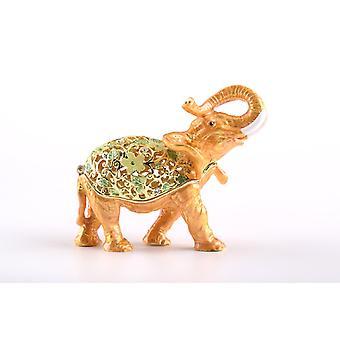 Brown Elephant Trinket Box