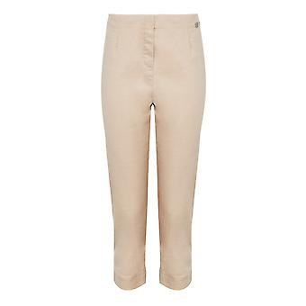 PENNY PLAIN Stone Twill Cropped Trousers