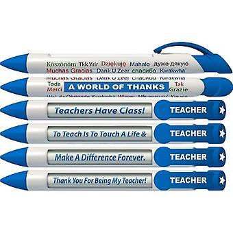 36403, Greeting Pen Rotating Message Teacher Pen - World Of Thanks 6 Pack (36403)