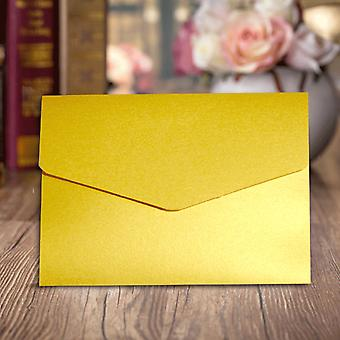 10 Gold  A6 Pearlescent/Shimmer Pocketfold Invitations