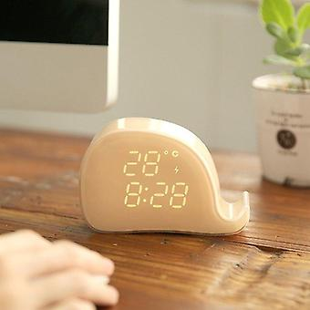 Whale Bracket Led Alarm Clock