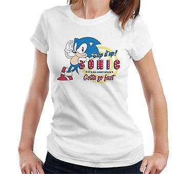 Sonic The Hedgehog sen kaikki nopeus täytyy mennä nopeasti naisten 't-paita