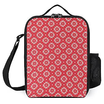 Christmas Pattern Printed Lunch Bags Reusable Lunch Cooler