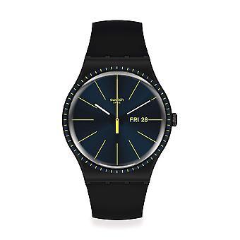 Swatch SUOB731 Black Rails Silicone Watch