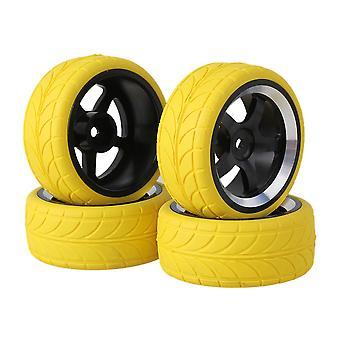 4xYellow Arrow vzor pneumatiky + čierna 5-spoke Al. ráfik kolesa pre RC1:10 na ceste auto