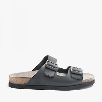 Mephisto Nerio Mens Leather Mule Sandals Black