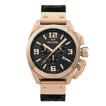 TW Steel TW1014 Canteen Rose Gold Tone Chronograph Wristwatch