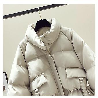 Puuvilla Naiset's Outwear Korealainen Tyyli Syksy Talvitakit Takki