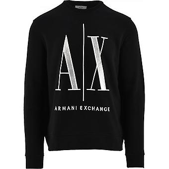 Sweat-shirt Armani Exchange Black Logo