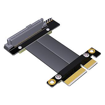 SFF-8639 90�� U.2 to PCI-E 4X Ribbon Extension Cable 20CM for U.2 NVME SSD