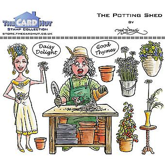 The Card Hut Garden Sheds: The Potting Shed Clear Stamps
