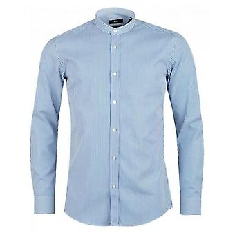 BOSS Jorris Striped Slim Fit Grandad Shirt