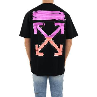 OFF WHITE Marker S/S Over Tee Black Fuch Black OMAA038R21JER0021032 Top
