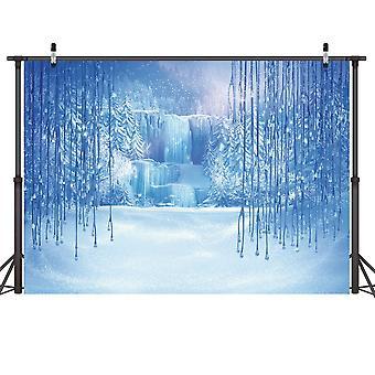 Lywygg 7x5ft winter wonderland backdrop winter snow photo backdrop christmas winter frozen snow ice