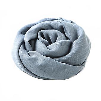 Bufanda 180x100 cm algodón/lino azul gris azul