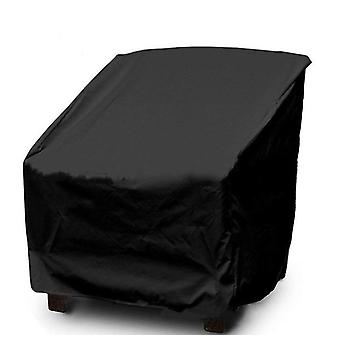 Patio High Back Chair Cover, Waterproof And Durable Outdoor Stackable Chair Cover, Premium Outdoor Stacking Black Chair Cover