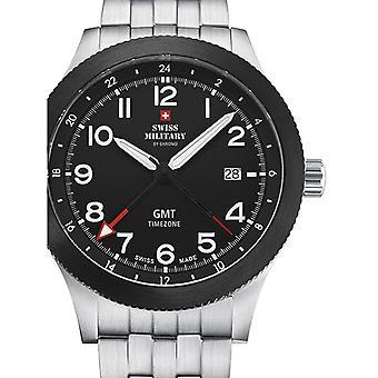 Reloj masculino militar suizo por Chrono SM34053.03, cuarzo, 42 mm, 5ATM