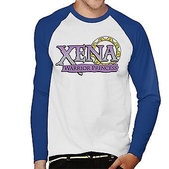 Xena Warrior Princess Purple Gradient Logo Men's Baseball Long Sleeved T-Shirt