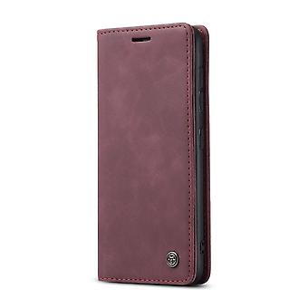 Caseme Wallet Caso Samsung Galaxy S21 - Borgonha