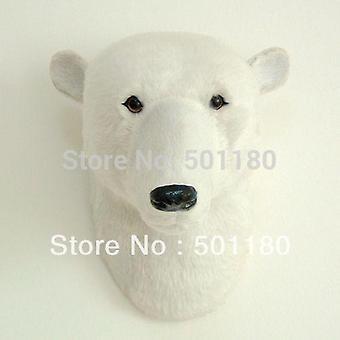 Free Shipping Artificial Polar Bear Head Polar Bear Head Wall Decoration Polar