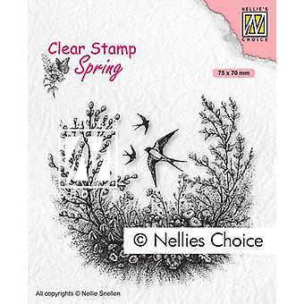 Nellie's Choice Clear Stamp - Spring Is In The Air 75x70mm