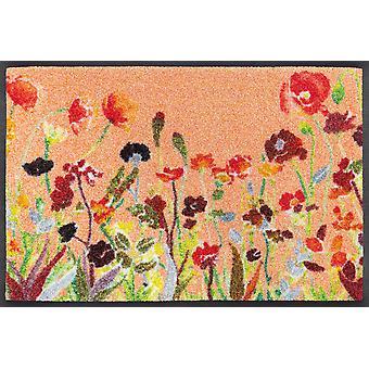 lavagem+tapete seco Flores silvestres 40 x 60 cm capacho lavável