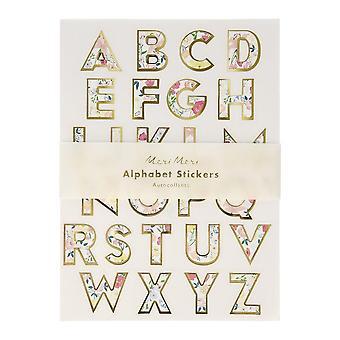 Meri Meri English Garden Floral Alphabet Sticker Sheets 10 Sheets