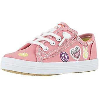 Keds Kids' Kickstart Pink Patch Jr Sneaker