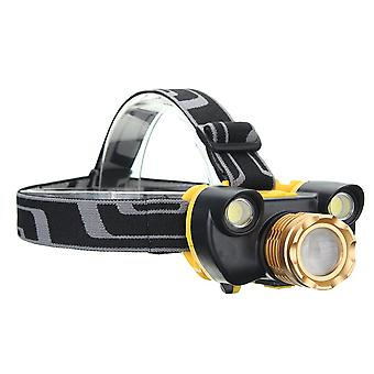 XANES 7304 1500 Lumens Bicycle Headlamp 4 Switch Modes T6+2COB White Light Mechanical Zoom