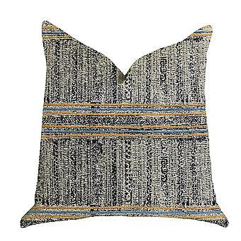 "Plutus Promenade Way Textured Luxury Throw Pillow - Double Sided 18"" X 18"""