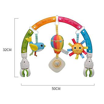 Lovely Baby Cradle Seat Cot Crib Hanging Soft Plush Rattles Ring Bell