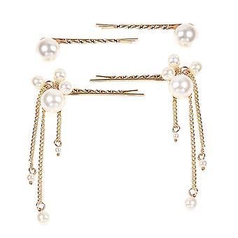 Vintage tassel slitina pearl elegantní vlásenky 4ks
