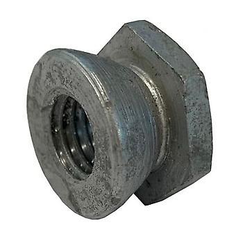 M12 Schermutter verzinkt milden Stahl (Permacone - Snapoff - Sicherheit - Tamper Proof)